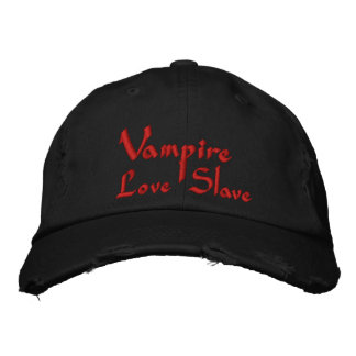 Vampire Love Slave Embroidered Hats