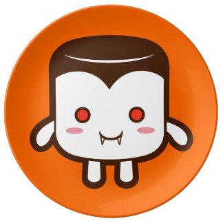 Vampire marshmallow plate
