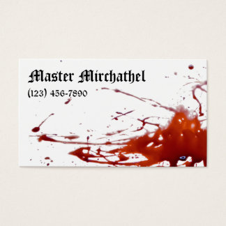 Vampire Master Bloody Business Card