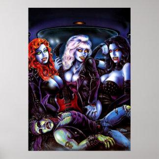 Vampire Metal Girls Print