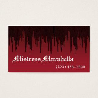 Vampire Mistress Bloody Business Card