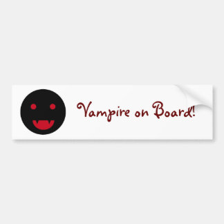 Vampire on Board bumper sticker