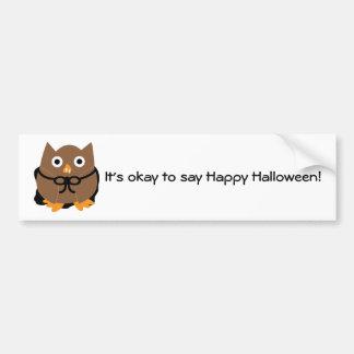 Vampire Owl Bumper Sticker