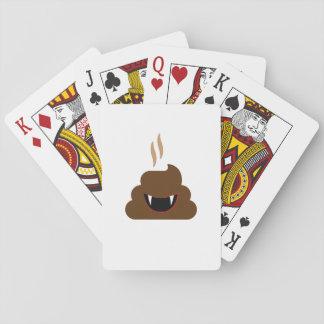 Vampire Poop Emoji Funny Halloween Playing Cards