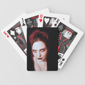 Vampire Portrait Goth Art Bicycle Playing Cards
