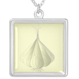 Vampire Protection - Garlic Silver Plated Necklace
