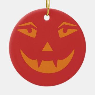 Vampire Pumpkin Face Christmas Tree Ornament