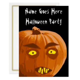 Vampire Pumpkin Halloween Party Invitation