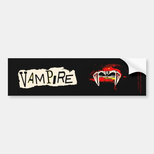 Vampire Punk Bumper Stickers