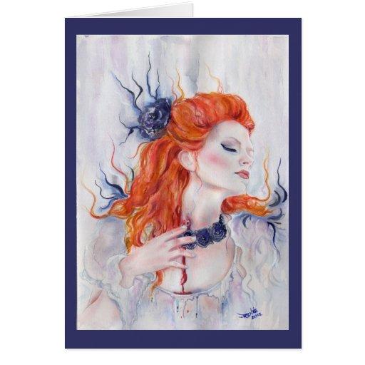 Vampire Purple rose Card By Renee L.Lavoie
