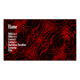 Vampire Red Gothic Business Card