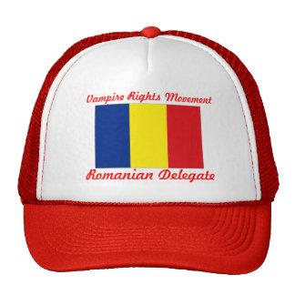 Vampire Rights Movement - Romanian Delegate Trucker Hats