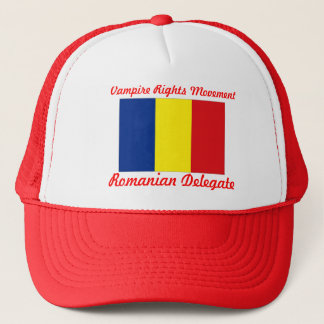 Vampire Rights Movement - Romanian Delegate Trucker Hat
