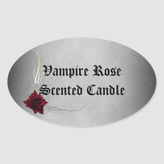 Vampire Rose Candle Soap Label Sticker