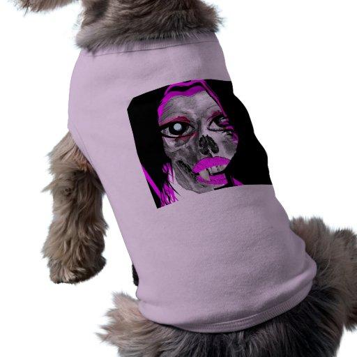 VAMPIRE SKULL BABE GRAPHIC PRINT DOG T-SHIRT