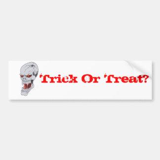 Vampire Skull Drawing Bumper Sticker