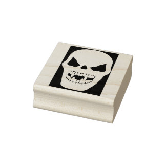 Vampire skull silhouette art stamp