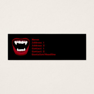 Vampire Smile Skinny Business Card