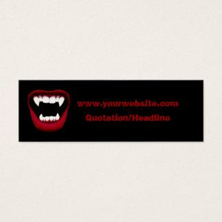 Vampire Smile Skinny Website Card