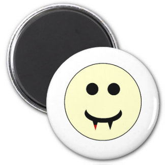 Vampire Smiley 6 Cm Round Magnet