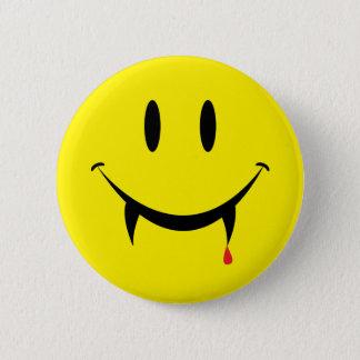 Vampire Smiley Face 6 Cm Round Badge