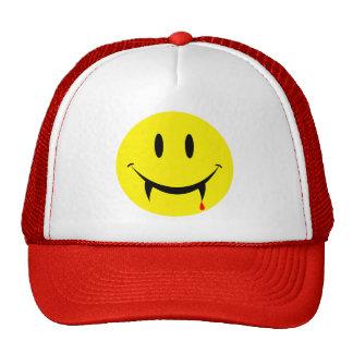 Vampire Smiley Face Cap