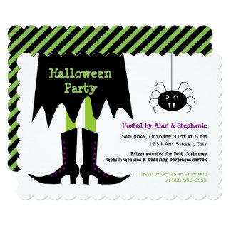 Vampire Spider Witch Halloween Party Invitation