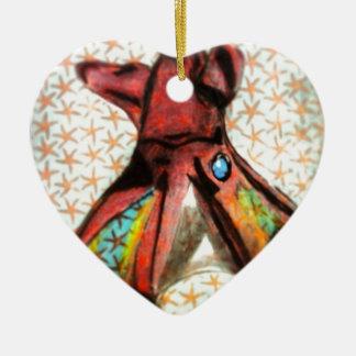 Vampire Squid Ceramic Heart Decoration