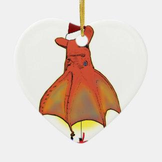 Vampire Squid from Hell Christmas Ceramic Heart Decoration