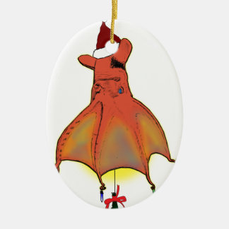 Vampire Squid from Hell Christmas Ceramic Oval Decoration