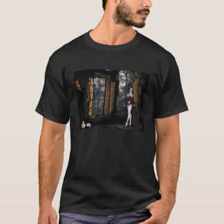 Vampire Standing in the Window Light Apparel T-Shirt