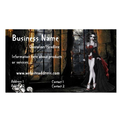 Vampire Standing in the Window Light Business Card