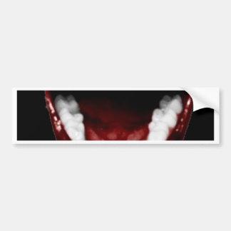 """Vampire Teeth"" Bumper Stickers"