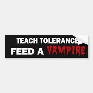 Vampire tolerance bumper sticker