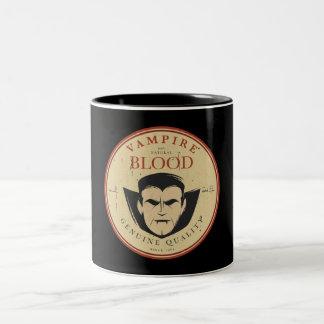 Vampire Vintage Label Halloween Coffee Mug
