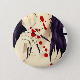 Vampire with blood 6 cm round badge