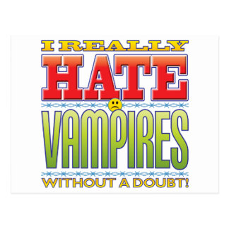 Vampires Hate Face Postcard