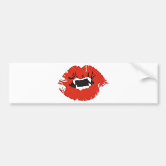 Vampires Kiss Bumper Sticker