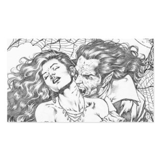 Vampire's Kiss by Al Rio - Vampire and Woman Art Double-Sided Standard Business Cards (Pack Of 100)