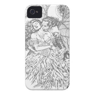 Vampire's Kiss by Al Rio - Vampire and Woman Art Case-Mate iPhone 4 Case