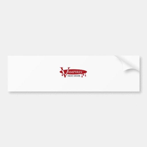 Vampires Next Door Logo Design Bumper Sticker