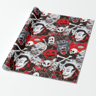 "Vampires Night Matte Wrapping Paper, 30"" x 6' Wrapping Paper"