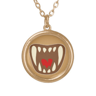 Vampirgebiss vampire fangs gold plated necklace
