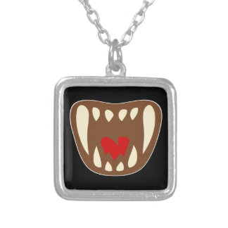 Vampirgebiss vampire fangs silver plated necklace