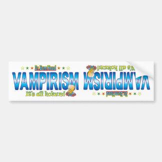 Vampirism Dr. B Head Bumper Sticker