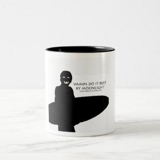 Vamps by Moonlight Two-Tone Mug