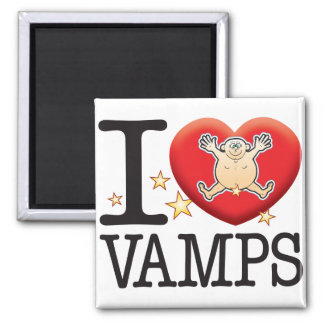 Vamps Love Man Square Magnet