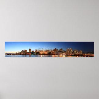 van city panorama poster