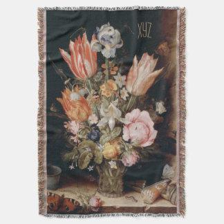 Van den Berghe's Flowers custom throw blanket