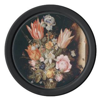 Van den Berghe's Flowers poker chips